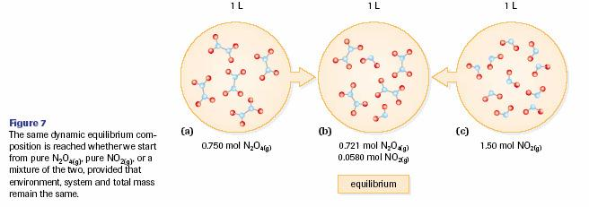 - Another example is N 2 O 4(g) 2NO 2(g) Equilibrium Law in Chemical Reactions - when considering chemical reactions that reach an equilibrium point reactants and products will be in the mixture -