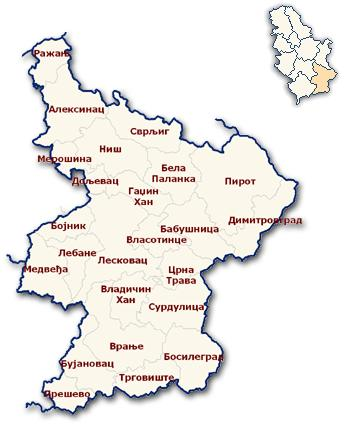 10. TRANSFORMATION PARAMETERS RECC NIŠ Transformation parameters for the Real Estate Cadastre Centre Niš have been derived on the basis of 347 points of the state trigonometry network.