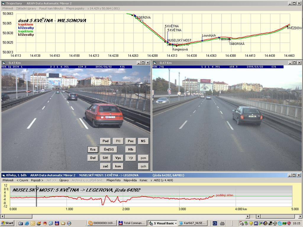 6.3. HIGH-LEVEL PROCESSED DATA Processed data are conected with software for viewing and printing data charts, tables and JPEG pictures (Figure 6.2). Figure 6.2. ARAN data viewer developed by VIAGEOS 6.