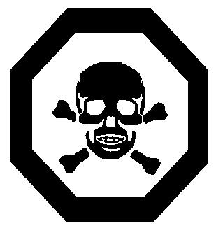 Risk levels On a pesticide label, you will sometimes find a toxicity symbol warning the user of the risk and nature of the risk of handling the product in question.