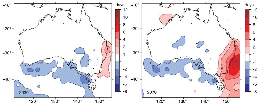 Church et. al (2006) found that for Australia extreme sea-levels that occur on annual to decadal timescales increased their frequency of occurrence by a factor of about three during the 20th century.