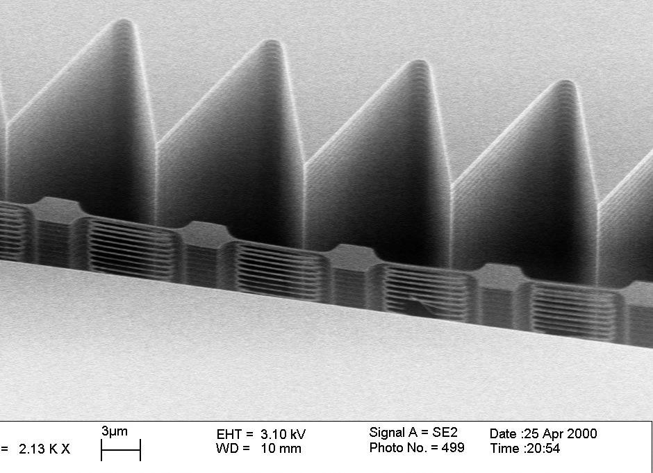 >10 micron gap Increased capacitance for actuation and sensing Low-stress structures