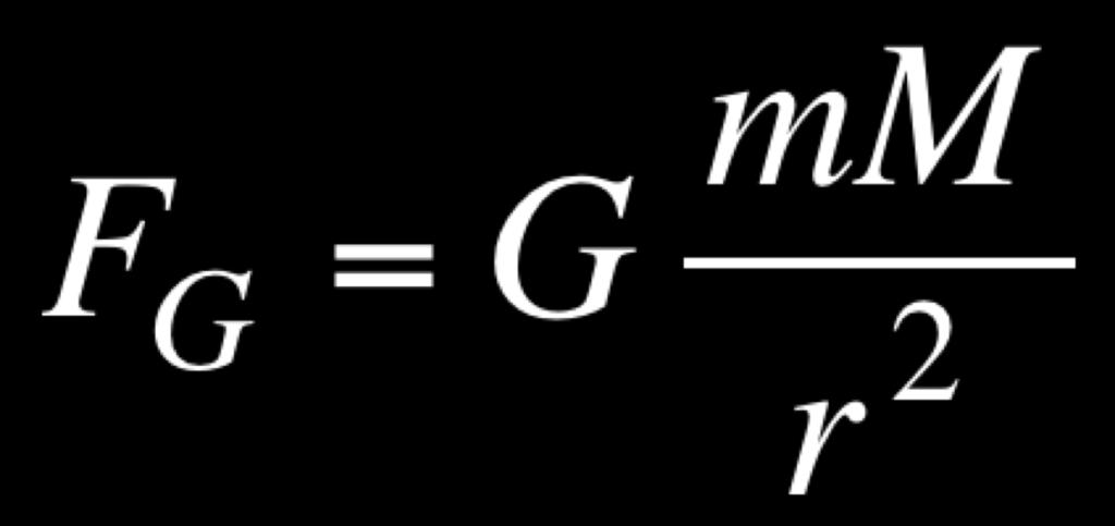 F = gravitational force between two objects (in newtons) m = mass of the planet (in kilograms) M = mass