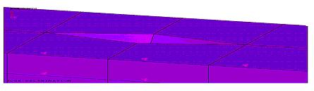 IV. THREE DIMENSIONAL FE ANALYSIS OF DELAMINATION Figure shows the 3D full finite element model of the composite laminate having small edge delamination.