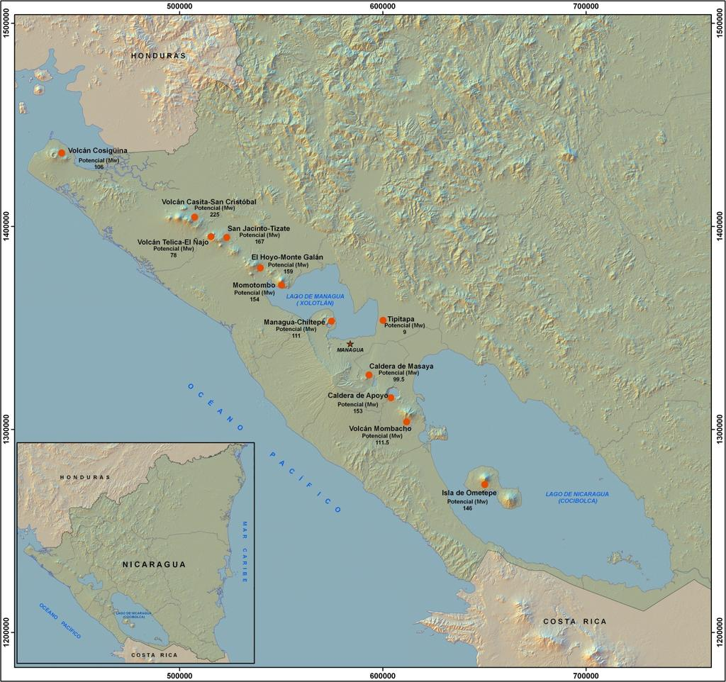 Report 27 565 Quintero Roman The chain of 18 distinct volcanic centres found in Nicaragua is a part of the Central America Volcanic Arc (CAVA) which extends along the Pacific coastline of the Central