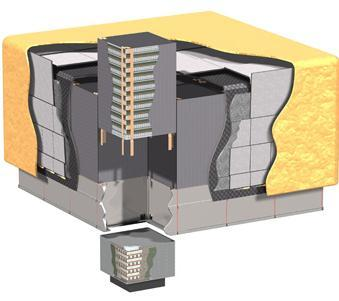 The Fermi Large Area Telescope (LAT): a pair-conversion telescope with ~1 m 2 effective area Anti-Coincidence Detector: charged particle veto surrounding Tracker, 89 plastic scintillator tiles + 8
