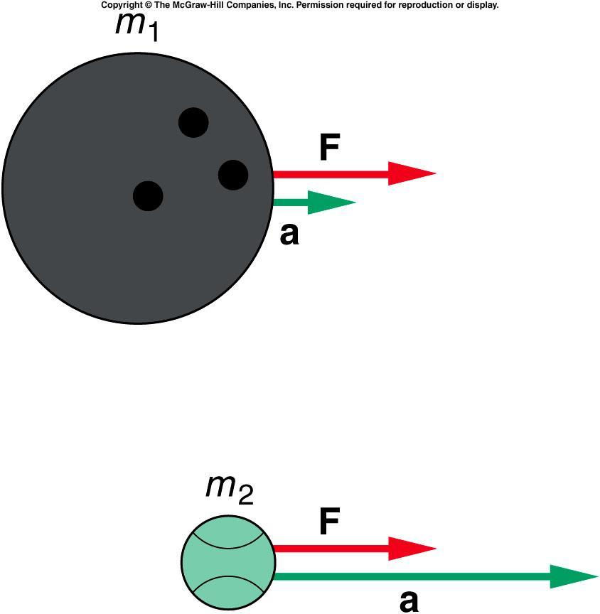 Newton s Second Law of Motion F net = ma The same net force