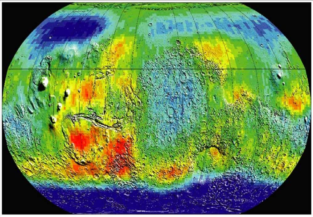 Hydrogen Content Image Credit: NASA/JPL Map of hydrogen