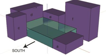 plaza are modeled, as shown on the figure 11 below. The boundary conditions of the model are described in section 5.2.
