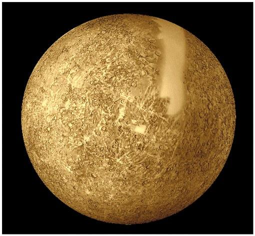Mercury The smallest planet (now that Pluto is no longer a planet) Avg. distance from the sun: 0.387 AU Year: 88 days Day: 58.6 days 3 Mercury Days = 2 Mercury Years Eccentricity: 0.