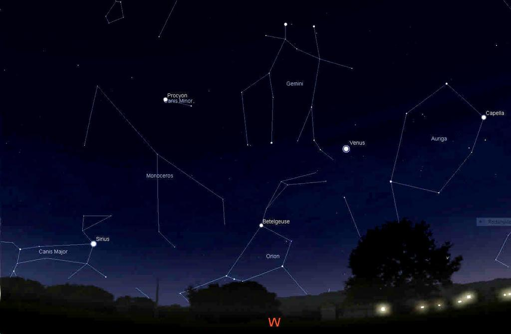 Canis Minor Procyon Review of Winter Sky Gemini Castor Pollux Auriga Capella