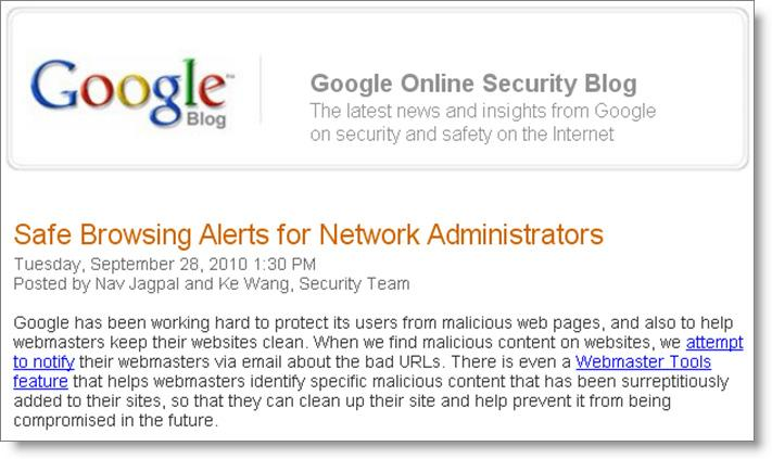 Monitoring Malware M A L W A R E D E F E N S E S Google Safe Browsing Alerts for Network Administrators