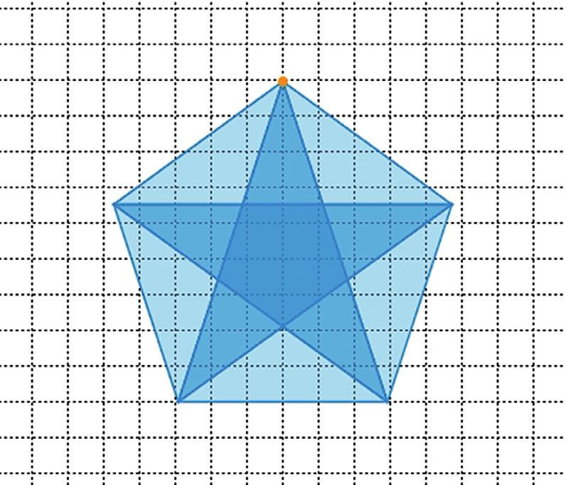 Three Four Five Many A famous figure > > Which geometric shapes can be discovered in this figure? > > Which of the triangles are congruent? > > Determine all angles in the figure.