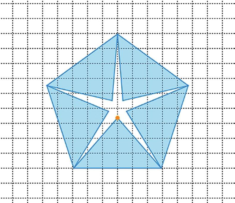 > > How do the symmetry properties change by colouring certain sections of the figure?