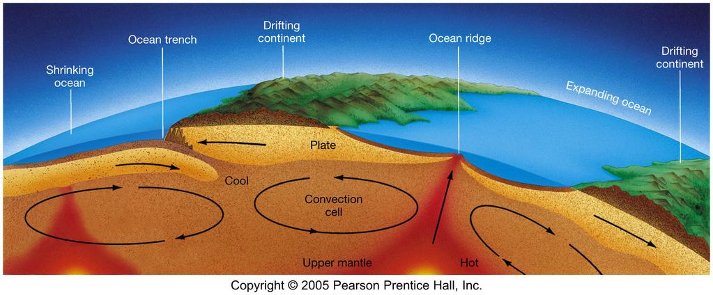 Plate Tectonics Plate motion is driven by convection in the upper