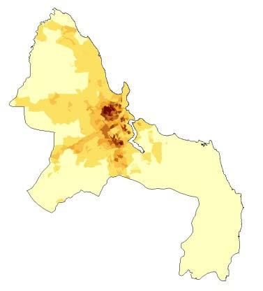 9: Selected results: Population density in Background 2012