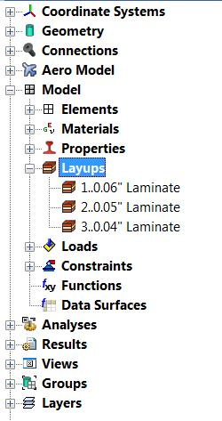 3.3 UNDERSTANDING THE LAYUP EDITOR Thickness of individual ply Notice the layup direction (numbering): bottom layer to top layer omputes laminate equivalent properties (inplane properties, bending