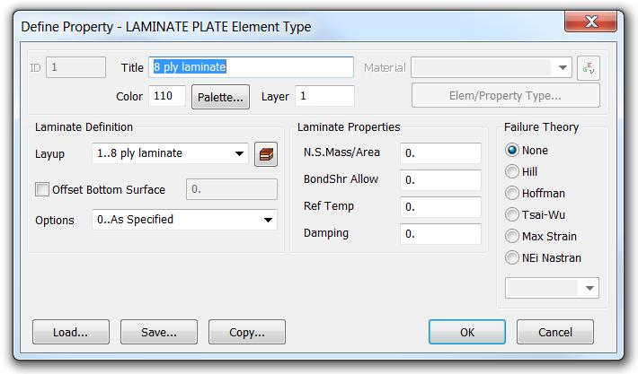 laminates. Ideally, one can define all the layers in the layup editor unless there are a large number of layers (e.g., thick composite). 4.