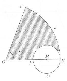 [5 marks] (c d) 9. Diagram 6 Diagram 6,shows OKJH with the centre O and a circle FGH with centre M.