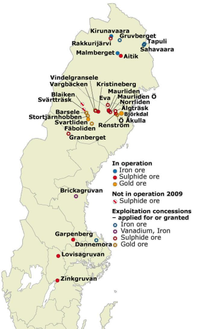 Great Location: Mineral-Rich Vasterbotten District in Sweden Gold Deposit Base Metal Deposit Gungnir Resources Mineral-Rich Vasterbotten District Barsele Svartliden Faboliden Boliden Bjorkdal