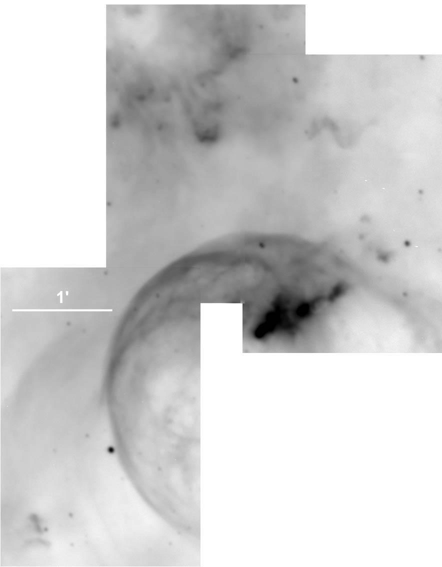 Fig. 4 was taken using the Steward Observatory 90 inch telescope on Kitt Peak with a CCD camera that rendered the image at a scale of 0.3 arcseconds/pixel.