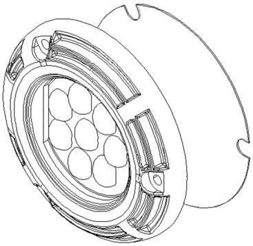 4. LED Module Drawings (Unit : mm) Module Drawing (Lens Type III H:135 V:6 ) H1) (12.
