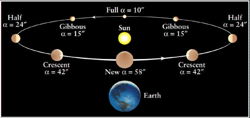 Phases of Venus in the heliocentric model All phases;