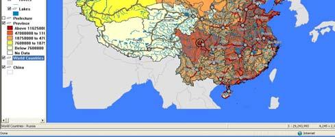 estimating the extent of the population and businesses impacted within the quake zones. On May 12, 2008 the following map and report were created and posted online by the China Data Center.