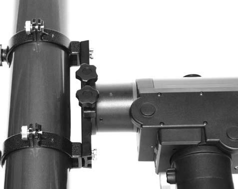 Figure 19a. Adjust the optical axis offset screws this way if Polaris moves toward the center of the eyepiece when the tube is pushed as in Figure 18. Figure 19b.