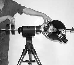 An equatorial mount (Figure 5) is designed to compensate for that motion, allowing you to easily track the movement of astronomical objects, thereby keeping them from drifting out of your telescope s