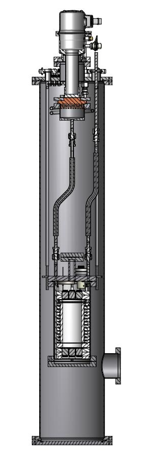 Design of the Münster TPC Designed originally for monitoring purity of XENON1T Xenon filling by guiding xenon gas slowly into cryostat Gaseous xenon cooled to -100 C by coldhead liquefaction Vacuum
