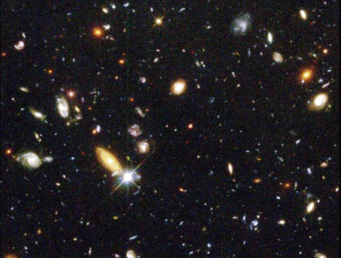 We can measure the speed of a galaxy from its redshift Hubble's Law