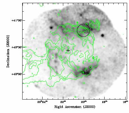 5-3 kev image of NW area of SNR: i) Diffuse SNR emission ii)