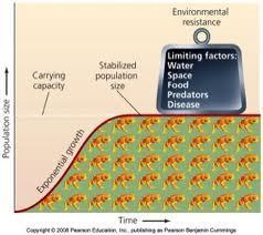 Limiting Factors Density-dependent factors high population density increase competition for resources; ex.