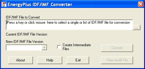 Using Older Version Input Files - Transition IDF Converter Using Older Version Input Files - Transition The transition program(s) assist users in converting input files from prior release versions to