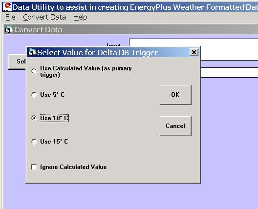Weather Converter Program Using the Weather Converter File Menu The file menu has four options: Fix Out of Range Data This is a toggle option that once selected is saved in the registry with other