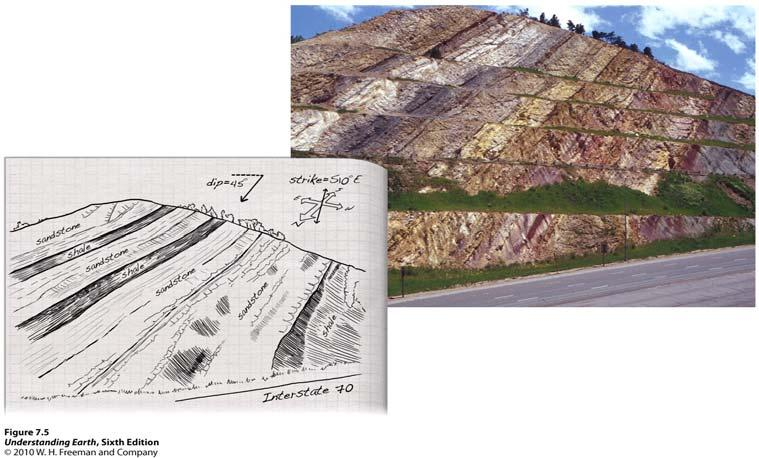 Outcrop basic source of geologic information in the field Dinosaur Ridge, located west of Denver, Colorado.