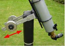6. Balancing telescope and mounting Start by balancing the telescope lengthwise.