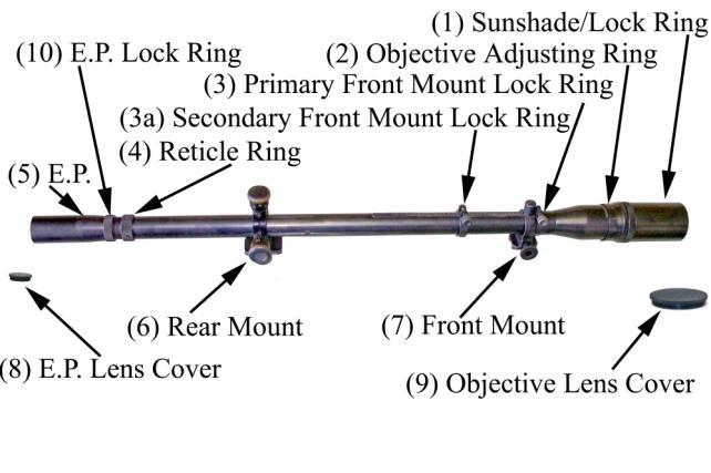 Section1: Riflescope Specifications Model Power Obj. (mm) F.O.V.@ 100 Yds (Feet) Eye Relief (Inch) Length (Inch) Weight (O.Z.) Exit Pupil Range In Variable mm M8USMC 8X 31 11 3.15 23 25.4 4.
