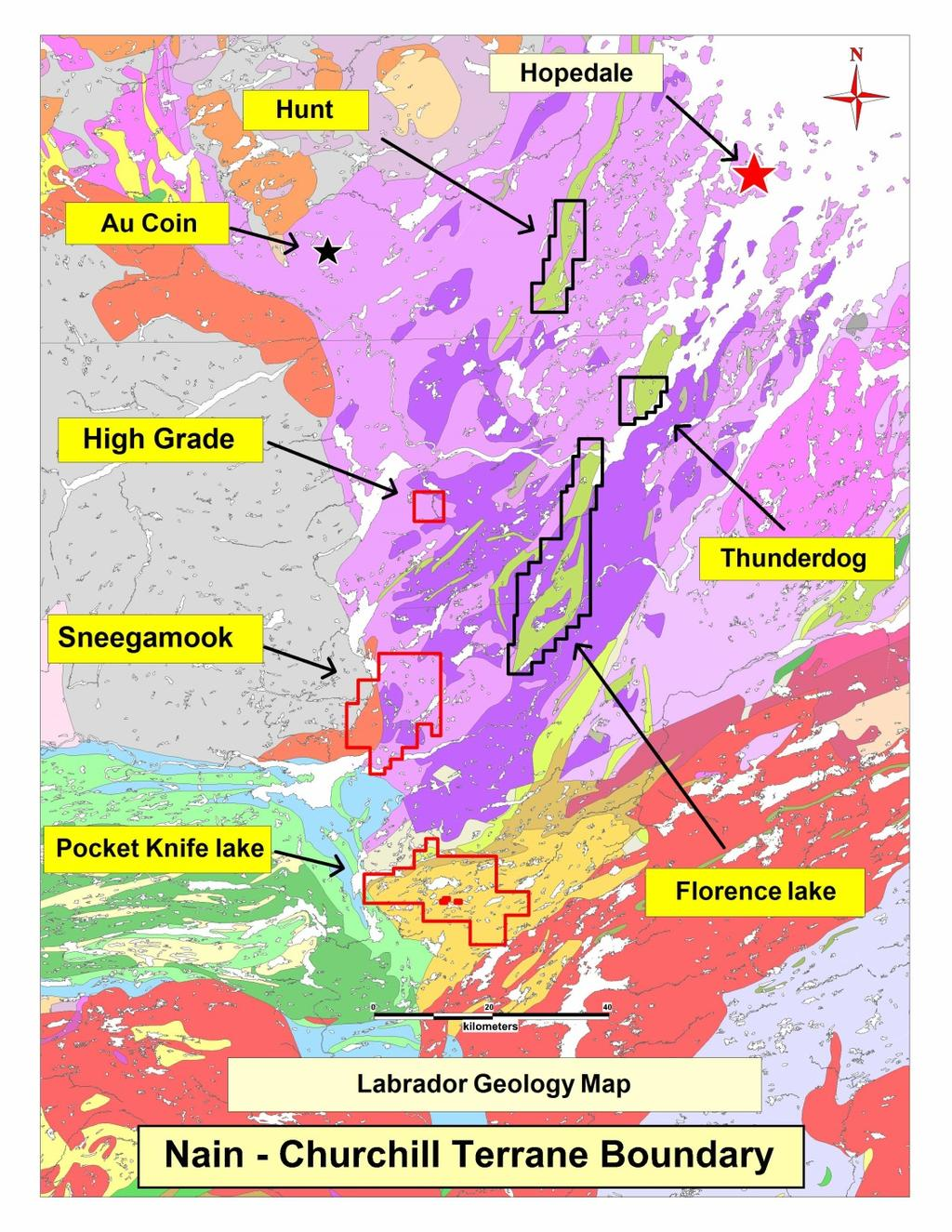Hopedale Hopedale claims cover most of the Hopedale volcanic belt (80 km) a little known greenstone belt Under explored for gold despite known showing of 3-4 grams per tonne gold Less than $150,000