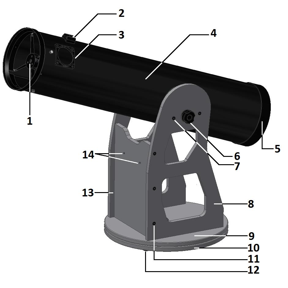 The Omegon Advanced Dobson 203 Congratulations on the purchase of the new Omegon Advanced Dobson 203 telescope.