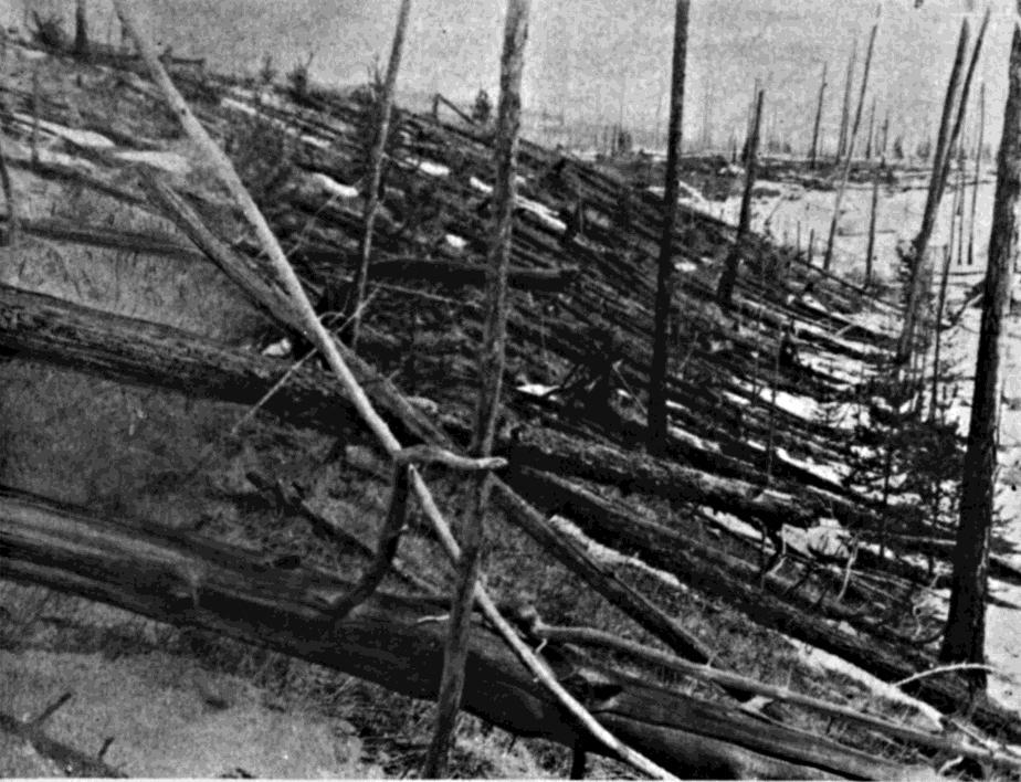 INTRODUCTION Early in the morning on June 30, 1908, a giant airburst occurred over the basin of the Podkamennaya Tunguska River in Central Siberia, Russia, leveling trees over an area of 2,000 km 2
