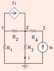 . Nodal Analysis 95 Fig..3 The circuit of Problem.