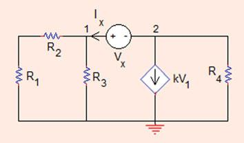 . Nodal Analysis 97 V ¼ V; V ¼V; i ¼ V R 3 ¼ ¼A i R ¼ V V ¼ ð Þ ¼ 3A: R Problem..5 (a) Determine the voltage-to-current ratio (the input resistance) in the circuit shown in Fig..5: R x ¼ V x I x ¼?