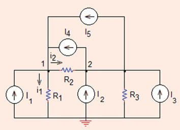 0 Analysis Methods 0. V ¼ D D ¼ 4 þ þ 0 ð0þþþ 3 ¼ 0 8 þ 0 þ 0 ð0þþþ ¼ 3 4 4.. 5 0 0 ¼ 0:75 V: Problem..9 In the circuit shown in Fig..9, find the values of node voltages V and V.