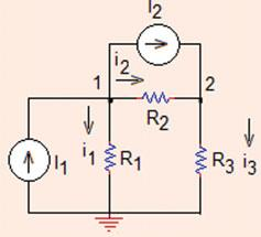 . Nodal Analysis 03 Fig..0 The circuit for Problem..0 (a) Find the node voltages, (b) Find the currents flowing in the circuit (Sim_Lin_Eq_Solve.m, matrix_solve. xlsx).