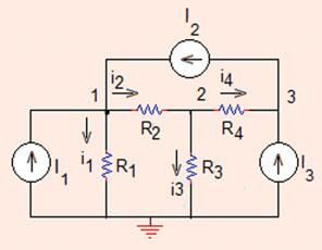 04 Analysis Methods ðbþ i ¼ V R ¼ 0:8 A; i ¼ V V R ¼ 0:A; i 3 ¼ V R 3 ¼ 0:7 A: Problem.. Use node voltages method and find the values of currents and voltages in the circuit shown in Fig.