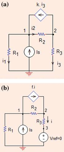 Analysis Methods Fig..7 The circuit for Problem..7 KCL at node : (G = G = G 3 =S) I S V ðv V Þfi ¼ 0!