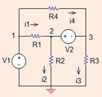 . Nodal Analysis 9 Fig..33 The circuit for Problem..33 On the other hand, V is connected between node and ground.