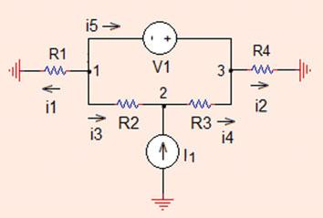 0 Analysis Methods Fig..34 The circuit for Problem..34 Since independent voltage source is connected between nodes (, 3), these nodes form a supernode. Node is included in this supernode.